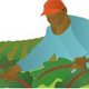 Farm field worker graphic