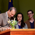 Photo of Chancellor Blumenthal and others during signing of real-food commitment