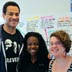 (Left to right) Students Desmond Vehar, Meka Williams, and Cynthia Friedman at home in the