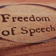 freedom of speech sign