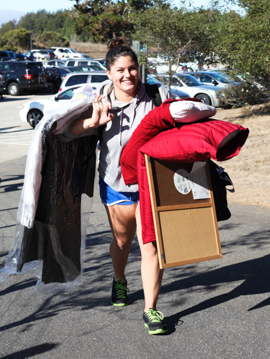 UCSC's hills make hauling your stuff a workout.