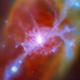 image of gas flow feeding a galaxy