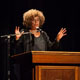 Angela Davis addresses 'police militarization' at capacity MLK Convocation.