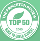 Princeton Review green 50 logo