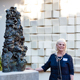 "Coeleen Kiebert unveils her sculpture ""China Rock"" (photos by Carolyn Lagattuta)"
