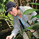 female scientist in rainforest