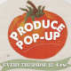 produce pop-up logo