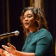 Black Lives Matter cofounder wows capacity crowd at MLK Convocation.