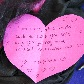 Note written on heart