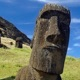 Photo of Moai sculptures on Easter Island.
