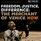 UCSC Merchant of Venice Now event poster
