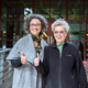 Librarian Elizabeth Cowell and Professor Sandy Faber