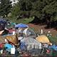 tent city in Santa Cruz