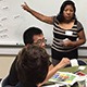 UC Santa Cruz students practice with speakers of Oaxacan indigenous languages.