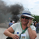 UC Santa Cruz emerita professor of history Dana Frank, reporting on protests in Honduras