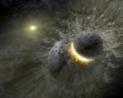 Planetsammenstød kan slynge gaskæmper ud i excentriske baner om stjernen