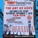 Photo of poster promoting TEDx Santa Cruz