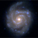 Hubble image of disk galaxy