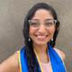 Garima Desai wearing her UC Santa Cruz graduation stole