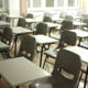 Empty desks inside a classroom