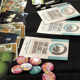 Fair trade fliers and pamphlets on a table