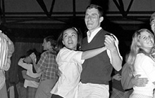Students dancing in 1965
