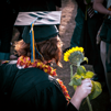 graduate with sunflower