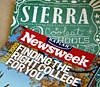 covers of Newsweek and Sierra magazines