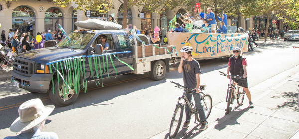 Long Marine Lab's research boat — a float that can float – won Best in Show.