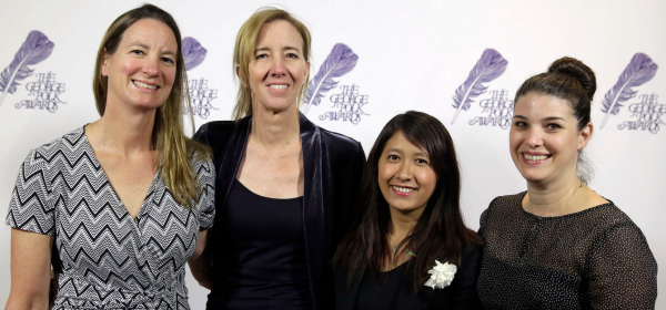 UCSC alumna Martha Mendoza, left, with her prize-winning AP colleagues.