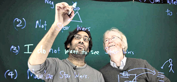 Linguistics professors Pranav Anand and Jim McCloskey discuss the engineering problems presented by linguistic theory.