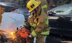 Alumna makes history with fire academy finish